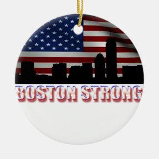 Boston fuerte adorno redondo de cerámica