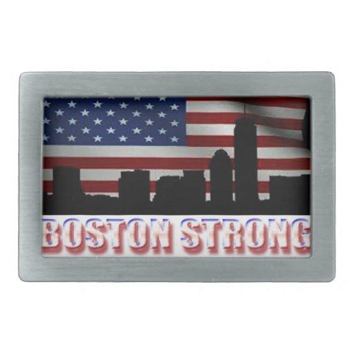 Boston fuerte hebilla cinturon rectangular