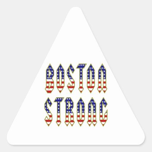 Boston fuerte pegatina triangular
