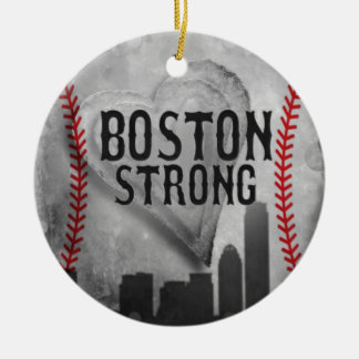 Boston fuerte por la joyería y los diseños de adorno navideño redondo de cerámica