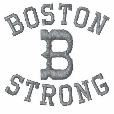 Boston fuerte sudadera bordada personalizada