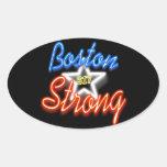 Boston fuerte y el brillar intensamente calcomanías de ovaladas