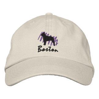 Boston garabateada gorros bordados