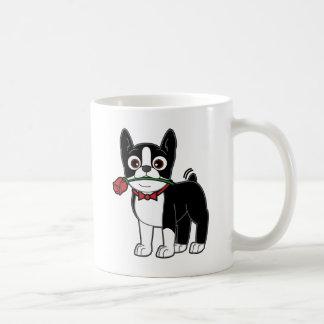 Boston Gentleman with Rose Coffee Mug