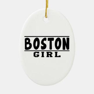 Boston girl designs christmas tree ornament