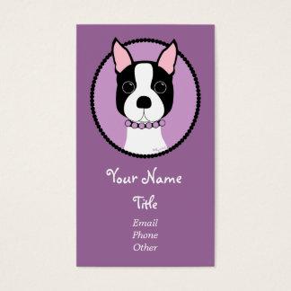 Boston Girl! Purple Business Card