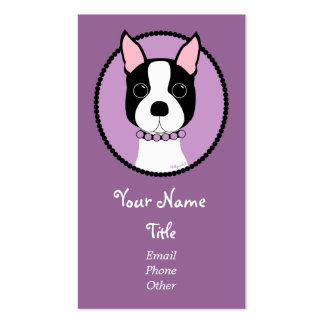 Boston Girl! Purple Business Card Template