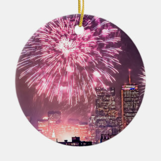 ¡Boston hace estallar los fuegos artificiales Adorno Redondo De Cerámica