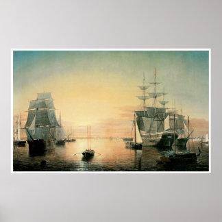 Boston Harbor, 1850-55 Poster