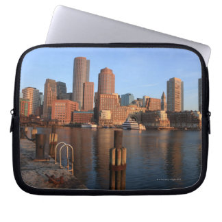 Boston Harbor and skyline.  Boston is one of the 3 Computer Sleeve