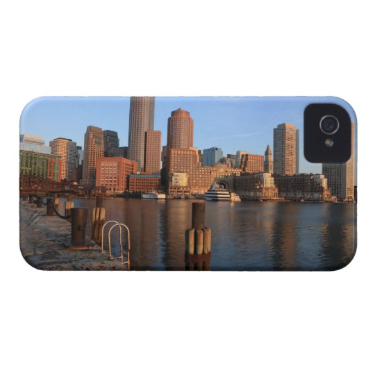 Boston Harbor and skyline.  Boston is one of the 3 iPhone 4 Cover