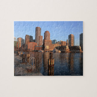 Boston Harbor and skyline.  Boston is one of the 3 Jigsaw Puzzle