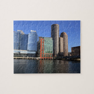 Boston Harbor and skyline.  Boston is one of the 4 Jigsaw Puzzle