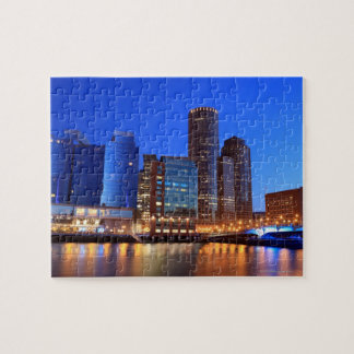 Boston Harbor and skyline.  Boston is one of the 5 Jigsaw Puzzle