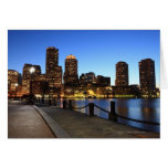 Boston Harbor and skyline.  Boston is one of the 6 Cards