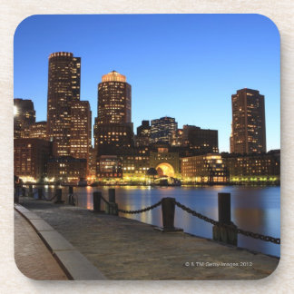Boston Harbor and skyline.  Boston is one of the 6 Beverage Coaster
