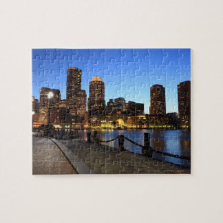 Boston Harbor and skyline.  Boston is one of the 6 Jigsaw Puzzle