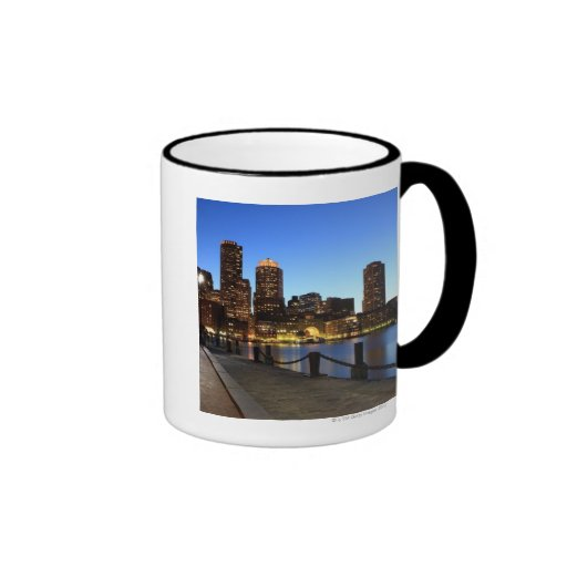 Boston Harbor and skyline.  Boston is one of the 6 Coffee Mugs