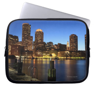 Boston Harbor and skyline.  Boston is one of the 7 Computer Sleeve