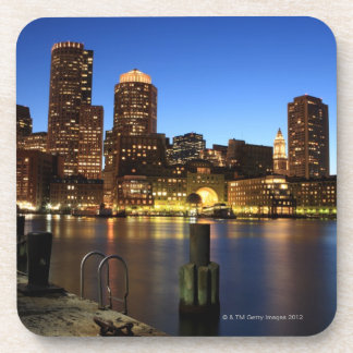 Boston Harbor and skyline.  Boston is one of the 7 Drink Coaster