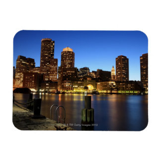 Boston Harbor and skyline.  Boston is one of the 7 Magnet