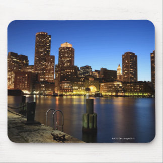 Boston Harbor and skyline.  Boston is one of the 7 Mouse Pad