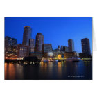 Boston Harbor and skyline.  Boston is one of the 8 Card