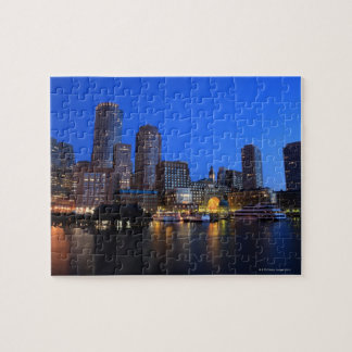 Boston Harbor and skyline.  Boston is one of the 8 Jigsaw Puzzle