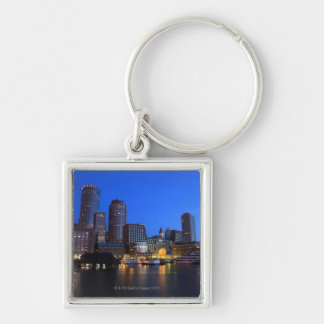 Boston Harbor and skyline.  Boston is one of the 8 Key Chain