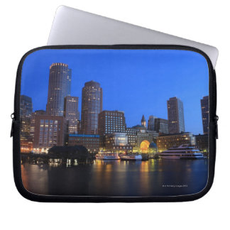 Boston Harbor and skyline.  Boston is one of the 8 Laptop Sleeve