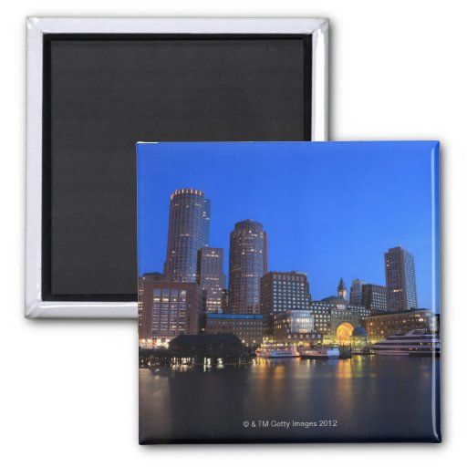 Boston Harbor and skyline.  Boston is one of the 8 Magnet