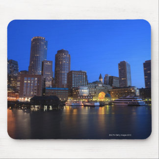 Boston Harbor and skyline.  Boston is one of the 8 Mouse Pad