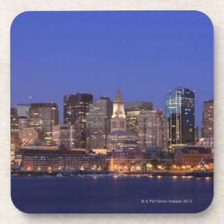 Boston Harbor and skyline.  Boston is one of the 9 Drink Coaster