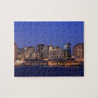 Boston Harbor and skyline.  Boston is one of the 9 Jigsaw Puzzle