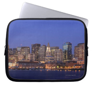 Boston Harbor and skyline.  Boston is one of the 9 Laptop Sleeve