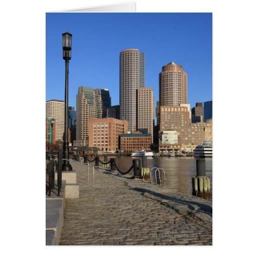 Boston Harbor and skyline.  Boston is one of the Card