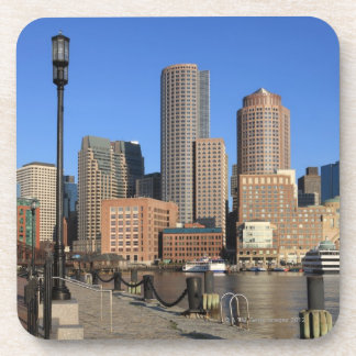 Boston Harbor and skyline.  Boston is one of the Drink Coaster