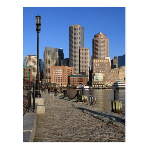 Boston Harbor and skyline.  Boston is one of the Post Card