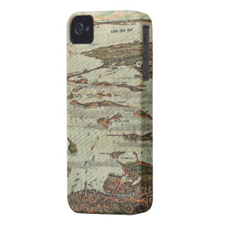 Boston Harbor Birds-Eye View Map iPhone 4 Cover