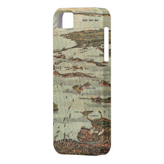 Boston Harbor Birds-Eye View Map iPhone SE/5/5s Case