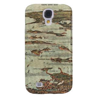 Boston Harbor Birdseye-view map Galaxy S4 Cover