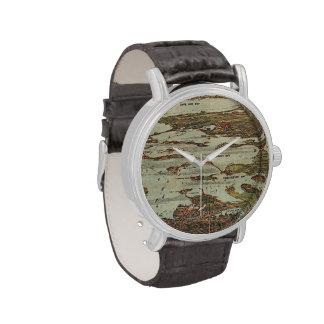Boston Harbor Birdseye-view Wristwatch