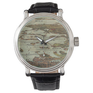 Boston Harbor Birdseye-view Wrist Watch