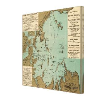 Boston Harbor Stretched Canvas Prints