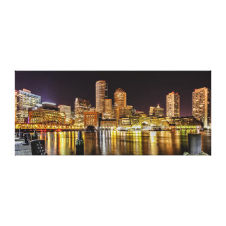 Boston Harbor Stretched Canvas Print