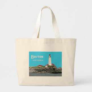 Boston Harbor Lighthouse Tote Bags