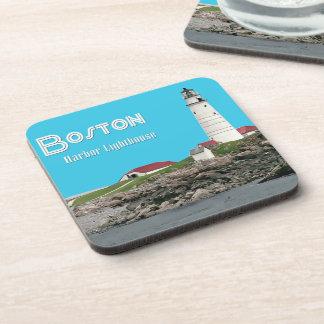 Boston Harbor Lighthouse Drink Coaster