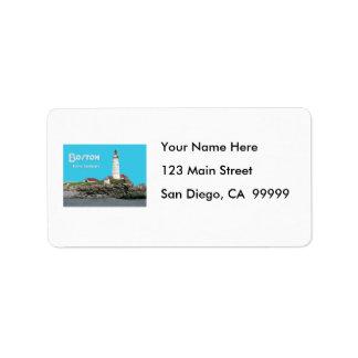 Boston Harbor Lighthouse Label
