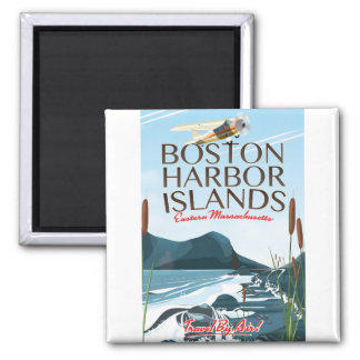 Boston Harbor Massachusetts Flight poster Magnet
