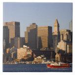 Boston Harbor, Massachusetts Large Square Tile
